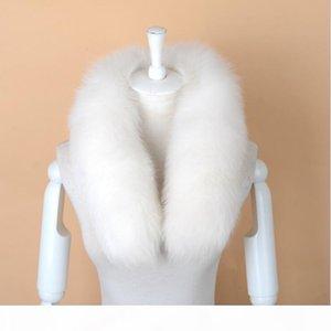S Uomini genuino delle donne della pelliccia di Fox sciarpa 100% reale naturale collo di pelliccia volpe Sciarpe Wraps buona qualità pelliccia Anello Marmitta D19011004