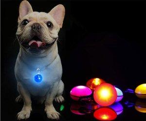 Светодиодный фонарик кота собаки ошейник светящийся кулон Night безопасности Pet Ведет ожерелье Luminous Яркое украшение ошейники для собак