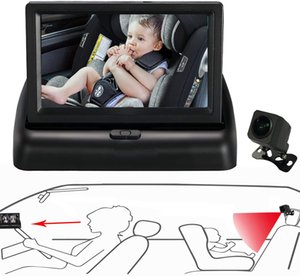 Baby Car Mirror.View Infant in Rear Facing Seat with Wide Crystal Clear View,Camera aimed at baby-Easily to Observe The Baby's Every Move
