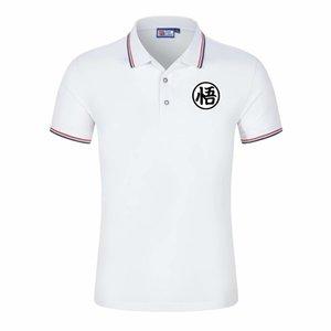 2020 Sıcak Yeni Dragon Ball Polo Gömlek Erkekler Kısa Kollu Casual Gömlek İnsanın Katı klasik t gömlek Artı Camisa Polo