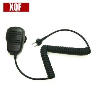 XQF 10PCS Матовые оболочки PTT Ручного плеча Динамик микрофон для МИДЛЕНДА G6 / G7 / G8 / G9 GXT550 GXT650 LXT80 Радио Walkie Talkie