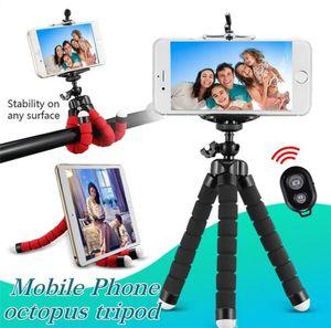 Porta cellulare flessibile di Polpo Treppied con Bluetooth Remote Shutting Staffa universale Staffa per cellulare Car Portable Camera Selfie Monopod