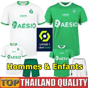 19 20 AS Saint-Etienne Camisetas de fútbol 2019 2020 ASSE Étienne Conjunto de camiseta de fútbol KHAZRI CABELLA BERIC NORDIN HAMOUMA hombres kit para niños uniforme