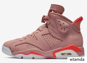 Better Quality 6 Millennial Pink Basketball Shoes Men Women 6s Aleali May Pink Sports Sneakers New With Box