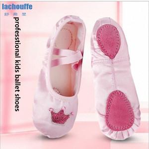 أطفال التطريز أحذية الباليه الرقص الأحمر الوردي اليوغا أحذية ممارسة المعلم للرقص المرأة راقصة الباليه الباليه الرقص شقة-shoesEU RZdW #