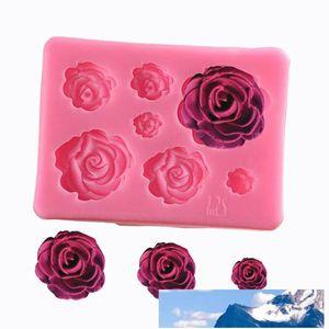 moules à gâteaux de cuisson en silicone en forme de rose romantique 3D pour le savon Bonbons crème glacée au chocolat outils décoration gâteau fleurs
