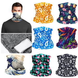 1 PC Fashion Elastic Head Face Scarf Neck Gaiter Tube Dustproof Bandana Pocket Inside Half Face Mask Outdoor Cycling Accessories