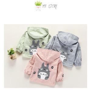 2020 New Spring Autumn Girls Windbreaker Coat Baby Kids Totoro Hooded Outwear Cartoon Baby Kids Coats Jacket children Clothing