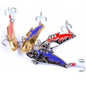 30шт VIB металл Spinner Ложок рыболовной приманка 5см 8g Реалистичных Жесткие Приманки Вибрация воблер Блестка для карп рыболовных снастей PESCA