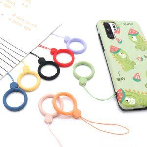 Новой девушка Силиконового кулон мобильного телефон ремни Keycord Стропа Finger кольцо мультфильм Аксессуары для мобильных телефонов