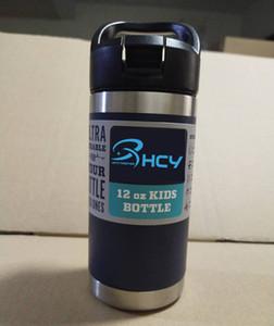 AÚN NUEVOS 12oz fría niños de vacío aislado botella doble botella de leche pared de acero inoxidable con casquillo de la paja 2020 la más nueva venta caliente