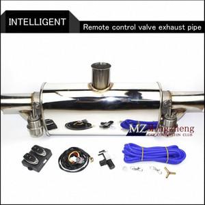 """2.5"""" Exhaust Exhaust System Stainless Steel T da tubulação elétrica recorte Fora válvula com eletrônica Remote Control Mudar tubo QJnI #"""