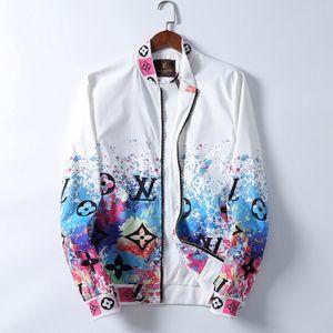 2020 Mens Designer Jackets Windbreaker Sportswear Nova Primavera Outono Jacket Roupa Zipper xadrez gola impresso Magro Jacket