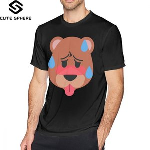 Ahegao Футболка Ahegao Grizzly Bear T-Shirt Хлопок Graphic Tee Shirt Крупногабаритные 100 с коротким рукавом Мода Высокий Мужчины Tshirt
