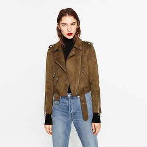 Fashion Designer Jackets for Women 2020 Spring New Arrival Lapel Motorcycle Clothing Womens Streerwear Designer Jackets Coats