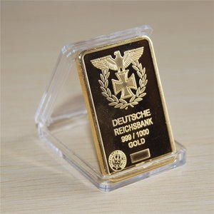 1 Oz 24k Gold German IRON CROSS BAR Deutsche Reichsbank COIN 999 1000 Eagle bullion bar 50pcs lot dhl free shipping