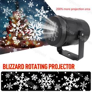 Effets à LED 4W Projection au laser en mouvement de flocon de neige Cool Blanc pour Noël Halloween Brightday Party Stage Éclairage DHL