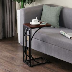 C كرسي أريكة جانبية نهاية الجدول Chairside وجبة خفيفة وحدة لهجة الجداول علبة الكمبيوتر المحمول