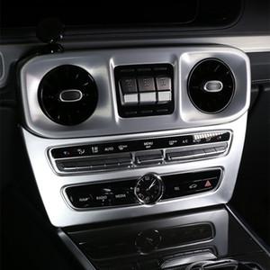 자동차 스타일링 센터 콘솔 CD 프레임 장식 스티커 트림 메르세데스 벤츠 G 클래스 G63 2019 2020 인테리어 자동차 액세서리