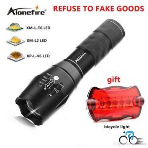 AloneFire G700 linterna táctica militar LED XML T6 E17 5modes antorchas linterna con zoom por la luz de la bicicleta 18650 o AAA +