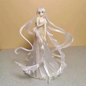 Sailor Moon Anime Figures Girl PVC Toys Tsukino Usagi Wedding Dress Collectible Model Sailor Moon Action Figurine Figma Juguetes T200715