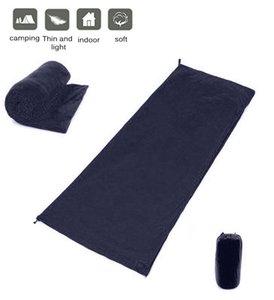 Флис спальный мешок Сверхлёгкая Открытый палатки кемпинга аксессуары кровать Путешествия теплый спальный мешок Liner палатка кровать