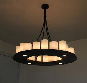 كيفن رايلي هيميل الرياضيات عصابة الحديثة قلادة مصباح LED شمعة الثريا كيفن رايلي إضاءة شمعة المبتكرة والتجهيزات المعدنية الخفيفة