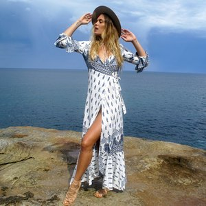 Melphieer Frauen Bademode böhmisches Kleid Long Beach Kleid Großhandel