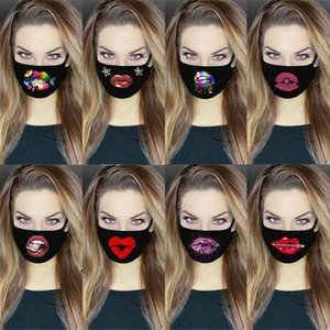 8 Styles Sexy Lips Designer Face Mask 3D Printing Adjustable Protective Mask Dust and Haze with PM2.5 Breathable Face Masks