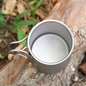 Lixada Outdoor Camping Picnic 250ml Hiking And Camping Camping & Hiking 450ml Titanium Double Wall Cup Water Coffee Tea Cup Mug With F pVW1#