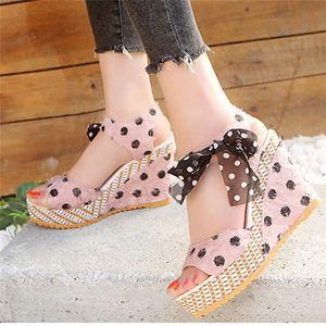Karin 2020 nouvelle vente Hot Plate-forme Wedge High Heels Sandales d'été créateurs Chaussures Femmes Dropship Color Mix Chaussures Mode Femme Sandales