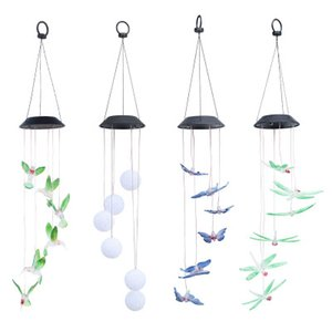 Droplight Mix And Match Welcome Solar Wind Chime Light Hummingbird Solar Gift Light Color LED Garden Hanging Light EEA393
