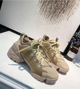Diseñador Zapatos de Lujo Sneaker Más Reciente Moda Mujeres Hombres Zapato Neopreno Grosgrain Cinta Conecte Zapatos Tamaño 35-42