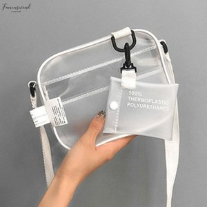 Causual Pvc Transparent Clear Woman Crossbody Bags Shoulder Bag Handbag Jelly Small Phone Bags Wide Straps Flap
