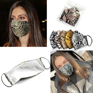 Fashion Leopard Printing Face Mask Designer Luxury Creativity Masks Washable Dust Proof Outdoor Sport Cycling Mask Men And Women Print Mask