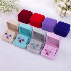 Engagement Velvet Ring Box Jewelry Display Storage Foldable Case For Wedding Ring Valentine's Day Gift Organizer yq02015