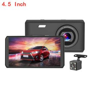 4.5 Inch Touch Screen HD Night Vision Driving Recorder 1080P Front And Rear Double RecordingRecorder Car DVR