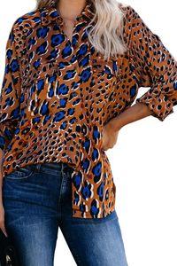 Drop Shipping Women Tops 2020 Spring Autumn Woman Shirt Leopard Long Sleeve Woman Blouse