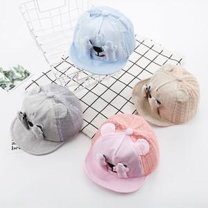 Breathable cotton mesh cap cute dog claws baseball Baseball cute children sun hat creative cap