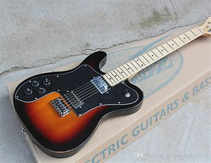 Wholesale Left-handed Electric Guitar with Black Pickguard,HH Pickups,Maple Fretboard,Chrome Hardwares,offering customization.