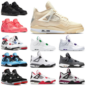 ayakkabı nike air jordan retro Sail 4 off white Basketbol ayakkabıları aj 4s jumpman iv erkekler kadınlar Sneakers Travis Scott Cactus Jack 2020 Bred Black Cat Hot Punch Trainers