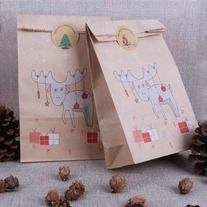 christmas gift box bags reindeer paper bag candy bags Christmas new year packing cookie navidad xmas party decor