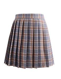 2020 Summer Women Pleated Skirt High Waist A-Line Female Plaid Skirts Fashion Homecoming Dresses Mini Skirts Slim Sexy Women's Skirt JK01