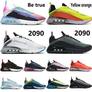 2020 Be True 2090 OG scarpe da corsa platino puro allevati formatori del ghiaccio nero bianco blu inversa anatra camo uomini donne scarpe da ginnastica
