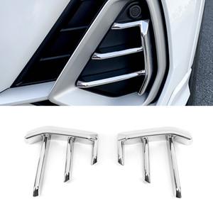 Car Accessories Front Fog Lamp Fog Light Chrome Cover Trim Sticker Frame Exterior Decoration for Audi Q3 F3 2018 2019 2020
