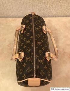 High quality oxidize cowhide speedy 30cm Hot Sell Fashion bag women bag Shoulder Bags Lady Totes handbags bags AZ125