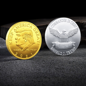 Trump Moneda conmemorativa personalizada del metal precioso medalla conmemorativa Presidente coleccionables del hogar del regalo de inclinación Personalizar Soporte VT1298