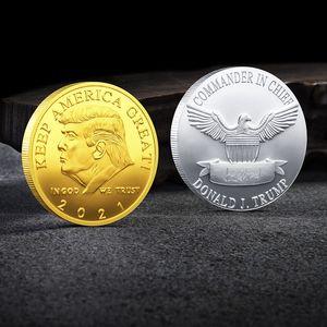 Trump Gedenkmünze Customized Precious Metal Gedenkmedaille Collectibles Geschenk Präsident Start Tilt anpassen Unterstützung VT1298