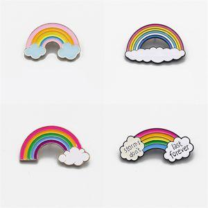 Nuages Cartoon arc-en-Brooches Broche Métal Cadeaux mignons Pin pour Femmes Hommes Enfants Shirt Accessoires Livraison gratuite E2