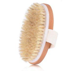 Piel de madera oval cepillo de baño seco Cuerpo Natural Health cerda suave del masaje del baño de ducha cepillo de cerdas SPA cepillo del cuerpo sin mango DHL